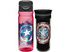 Captain America Drinkware - Set of 2