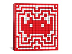 Red Invader Aura Tile Art 18x18 Thin