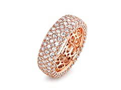 5 Rows French Setting Ring Rose Gold