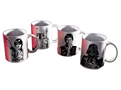 Star Wars Episode 4 4-Pc Ceramic Mug Set