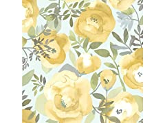 Peachy Keen Yellow Peel & Stick Wallpaper