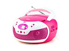 Tyler Portable Neon Pink Stereo CD Player