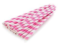 Sip Sip Hooray Paper Straws - Pink/Wht, 100ct