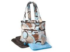 Bubble Teal Tulip Tote with Clutch