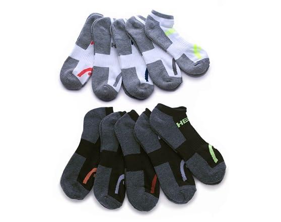 HEAD Moisture-Wicking Socks, 10 Pairs Quarter WT83957A