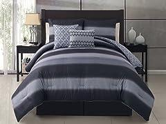 Mapletown 5pc Reversible Comforter Set- 2 Sizes