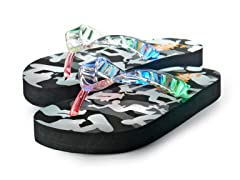 Light Up Flip-Flops - Black (8-12)