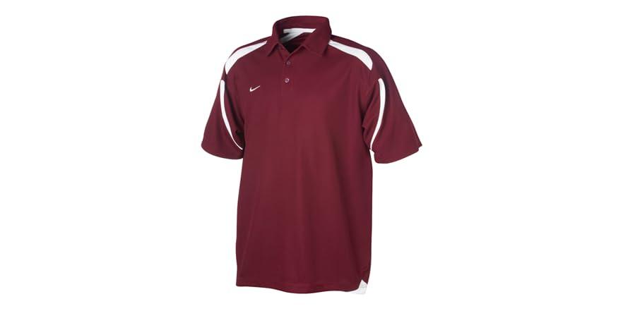 Endline dri fit polo maroon white for Maroon dri fit polo shirt