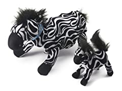 Zoobies Zulu Zebra w/BONUS Mini Plush