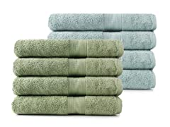 MicroCotton 4pc Bath Towel Set-6 Colors