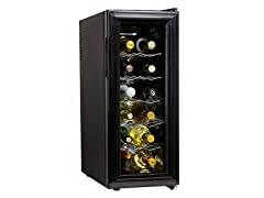 Black 12-Bottle Wine Cellar