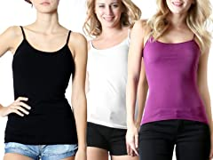 Women's 3 Pack Adustable Camisole
