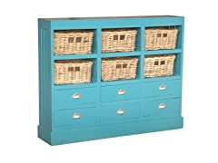Nantucket Storage Cabinet - Sky Blue