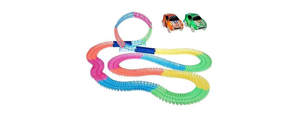 Twister Tracks 232 Pc Glow Track Set w/2 Cars