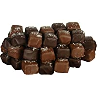 56-Pc.Fleur de Sel Milk & Dark Chocolate Covered Caramels