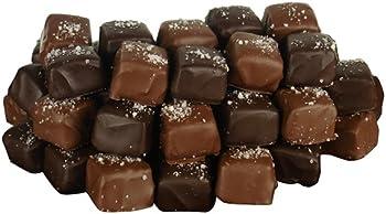 56-Pc.Fleur de Sel Milk & Dark Chocolate Covered Caramels