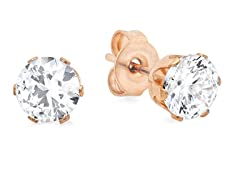 18 kt Rose Gold Plated 8mm Stud Earrings