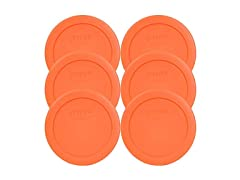 Pyrex Orange 2 Cup Round Storage Covers