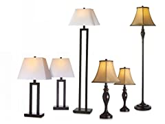Newport Lighting 3PC Lamp Set (2 Styles)
