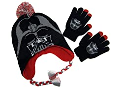 Darth Vader Peruvian Knit Cap & Gloves