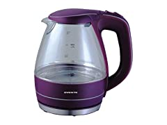 Ovente KG83 Series 1.5L Glass Electric Kettle, Purple