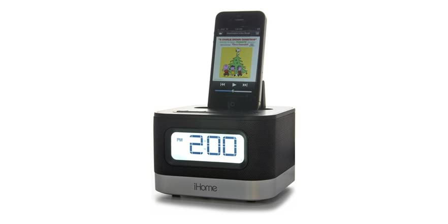 stereo alarm clock for ipod iphone woot. Black Bedroom Furniture Sets. Home Design Ideas