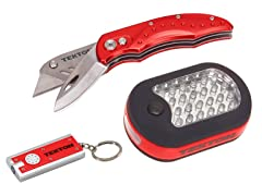 27-LED Light and Utility Knife, 2-Piece