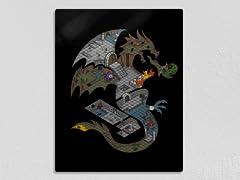Dungeons In Dragons Remix Metal Poster