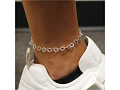 Sterling Silver Hammered Anklet