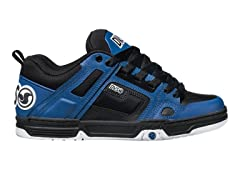 Comanche Skate - Black/Blue Leather