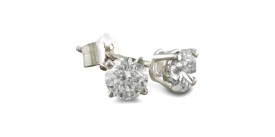 1 karat earrings 1 4 carat stud earrings set in solid 14 karat 7727