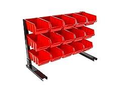 Stalwart 15 Bin Storage Rack Organizer
