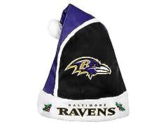 FOCO NFL Baltimore Ravens Santa Hat