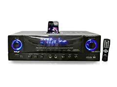 500 Watt Stereo Receiver AM-FM Tuner/USB/SD/iPod Dock