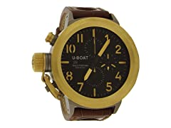 Flightdeck, Gold w/ Brown Strap