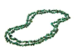 "36"" Endless Emerald Chip Necklace"