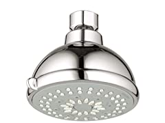 Bau Contemporary 3-Spray Shower Head, Chrome