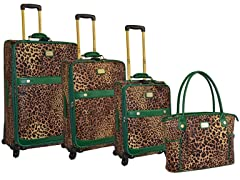 Faux Pebble Grain 4-Piece Luggage Set