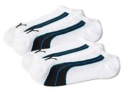 Puma Men's No-Show Socks 2-Pack - Navy