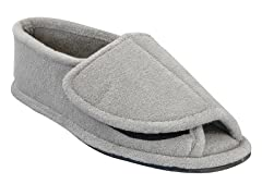 Men's Terry Adjustable Open Toe Full Foot, Grey