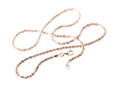 18k Rose Gold PLAted Sterling Silver Roc chain