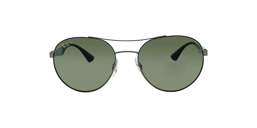 cad34a708f3 Ray-Ban 3536 Round Metal Polarized Sunglasses