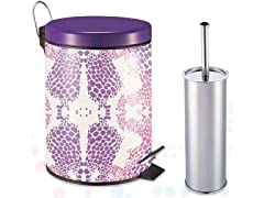 Trash Can Combo with Toilet Brush, 5L