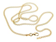18kt Gold Plated Silver Bizmark Chain