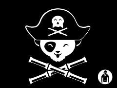 Panda Pirate Pullover Hoodie
