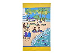 The New Yorker-Beach Scene Beach Towel