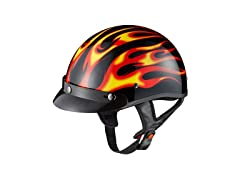 GLX Red Flame Half Helmet