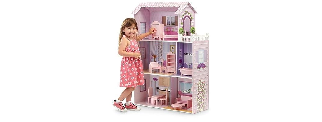 Fancy Mansion Dollhouse w/ Furniture