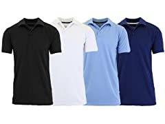 Mens Moisture-Wicking Polo 4 Pack