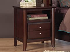 City II Two Drawer Nightstand